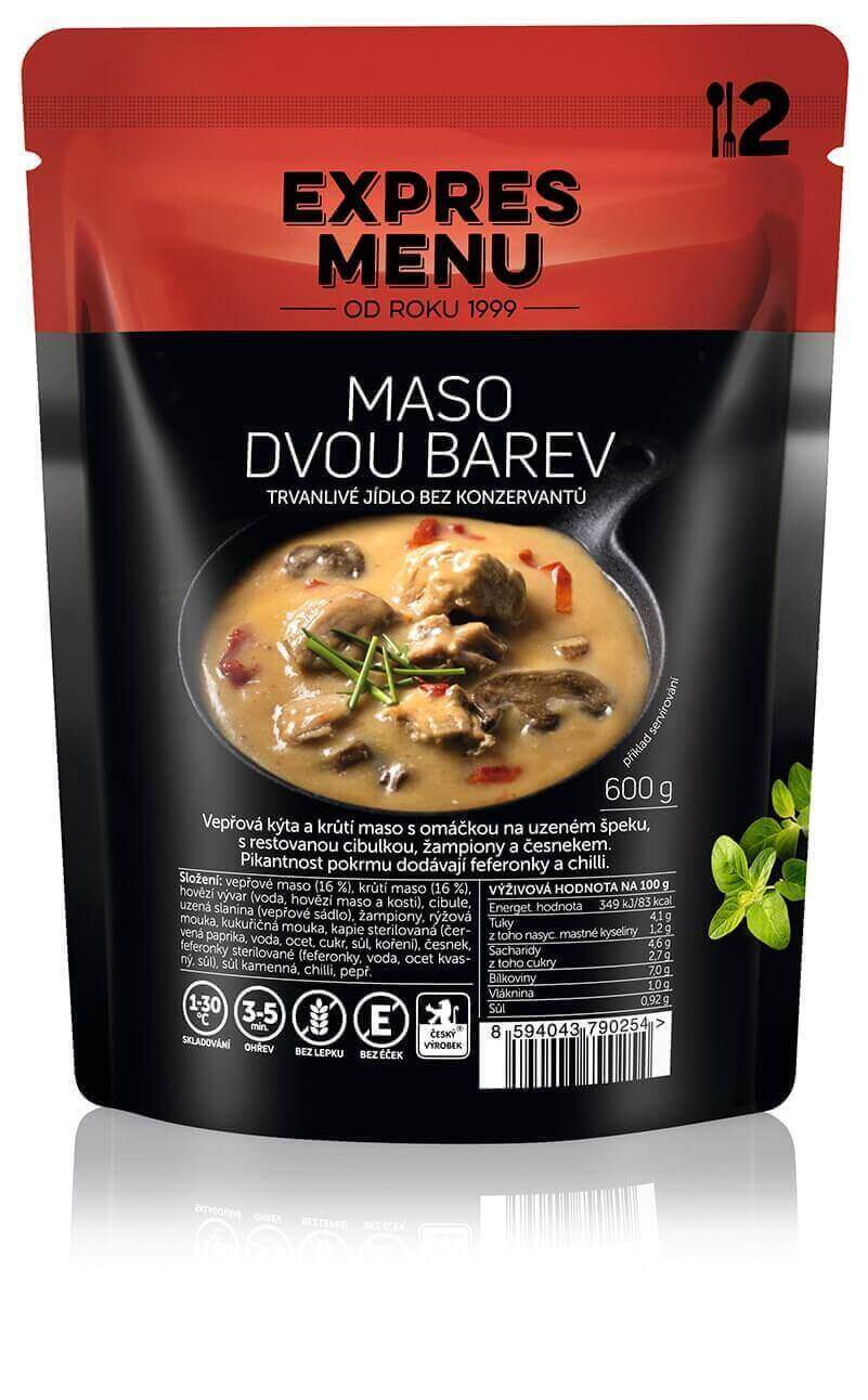 Maso dvou barev / Pork and turkey in hot sauce 600g