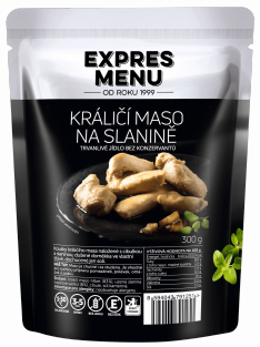 Králičí maso na slanině / Rabbit meat with bacon 300 g