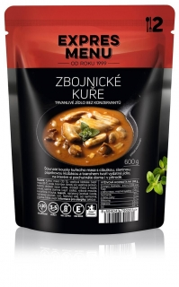 Zbojnické kuře / Chicken with sausage and bacon in tasty sauce 600g