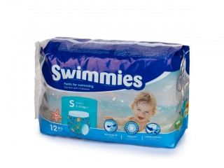 Swimmies S, 7-13 kg, 12 ks